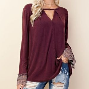 Tops - Gisele Bell Sleeve Knit Top